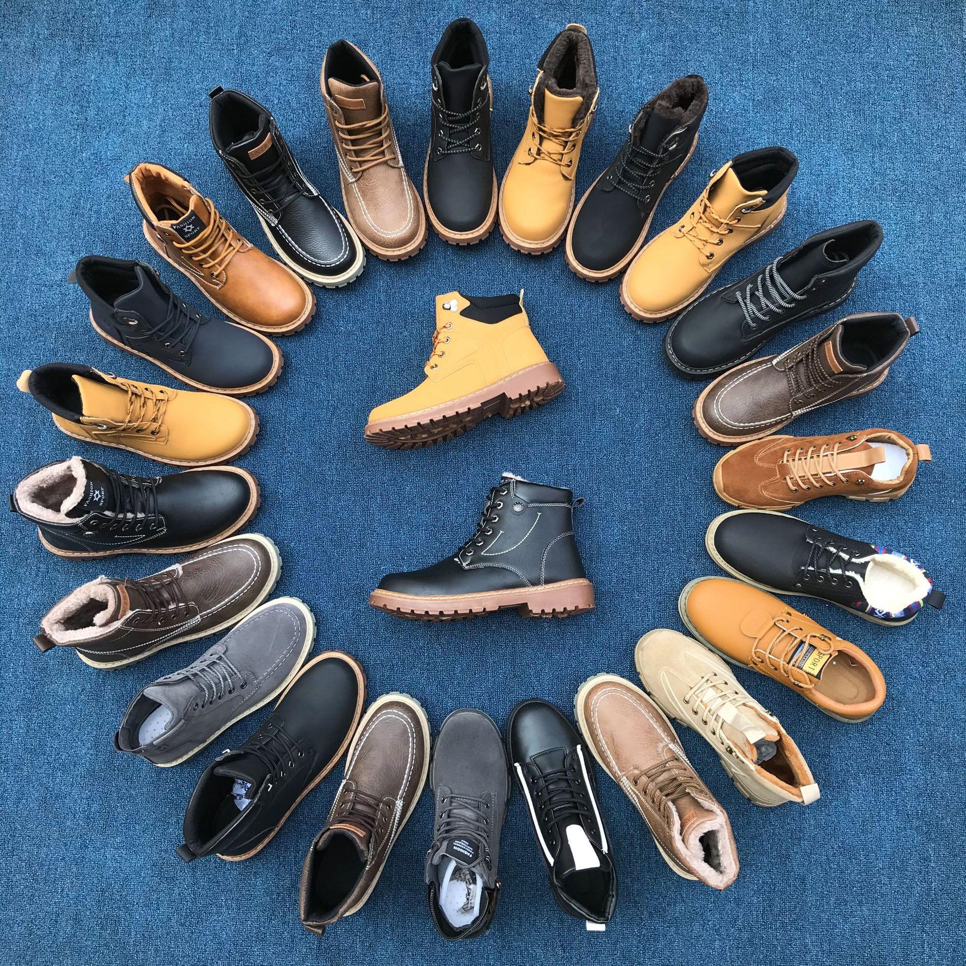 20秋冬马丁靴 中帮马丁男鞋 皮面防水保暖 真上线 加绒男款马丁靴