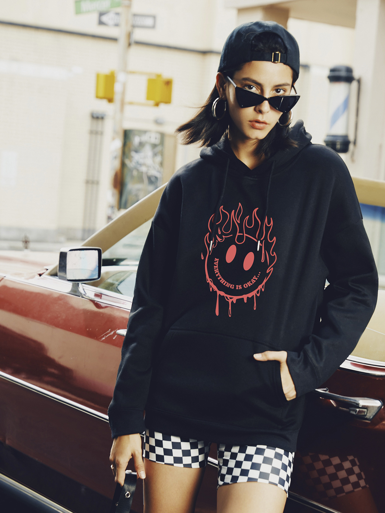 women hot autumn and winter hooded sweaters  NSSN365