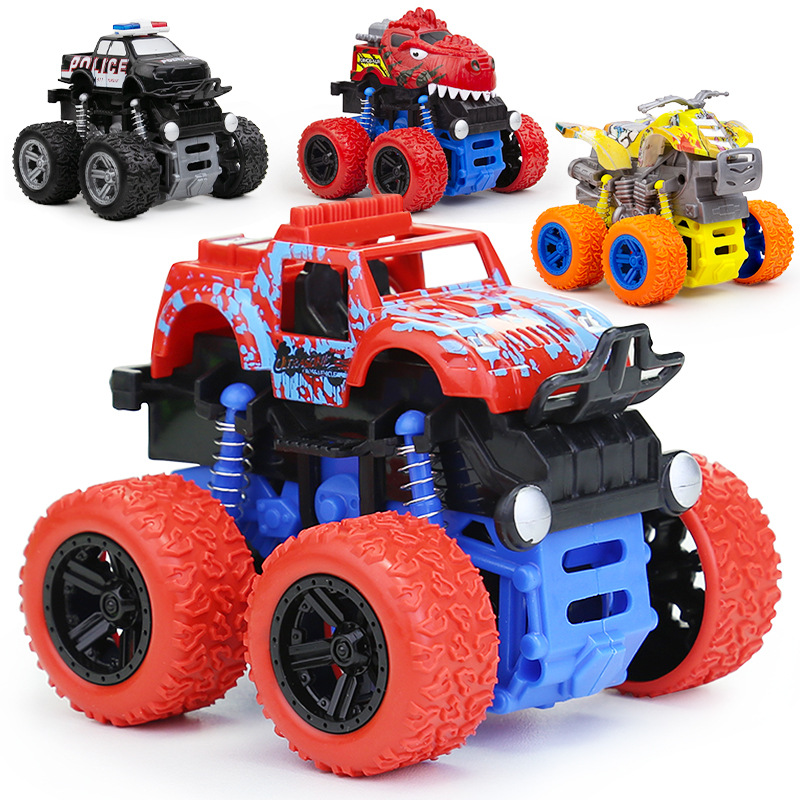 Four-Wheel Drive Inertial Stunt Off-Road Vehicle Children's Toy Model Anti-Fall Toy Car