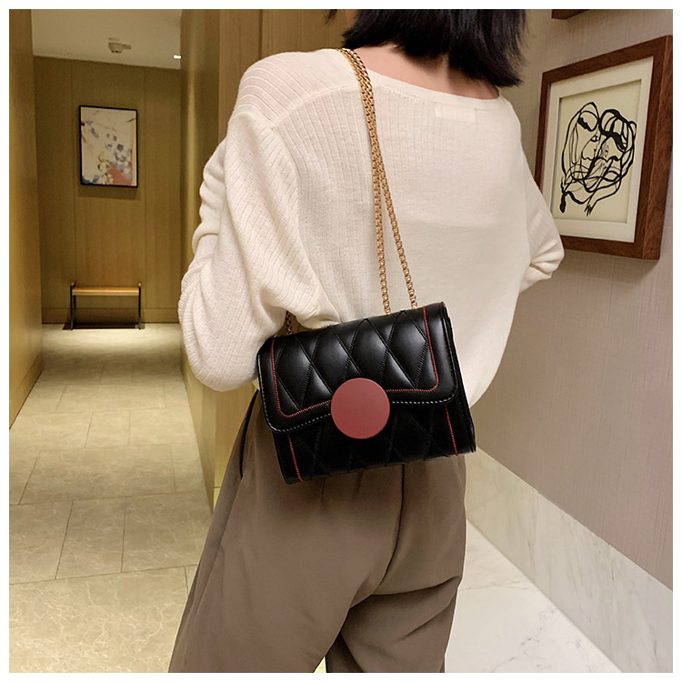 Fashion allmatch rhombus small fragrance texture mini chain messenger small square bag NHTC253896