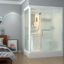 淋浴房整体 一体式卫生间带马桶家用隔断玻璃浴房集成卫浴洗澡房