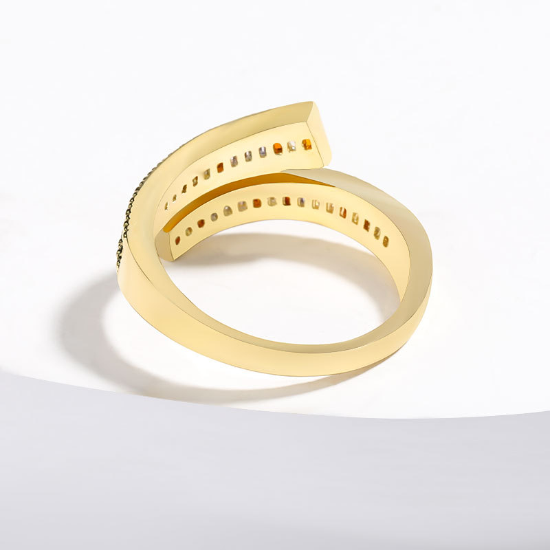 New fashion copper micro inlaid color zircon couple ring wholesale NHJE205948