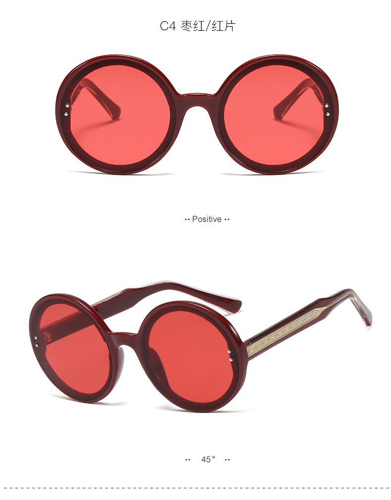 hot sale new trend rice nail round frame sunglasses CP ferrule high quality sunglasses  wholesale nihaojewelry NHFY218376