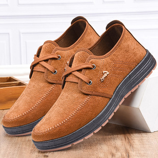Old Beijing cloth shoes men's 2021 work shoes canvas breathable shoes thickened bottom casual shoes for the elderly dad shoes