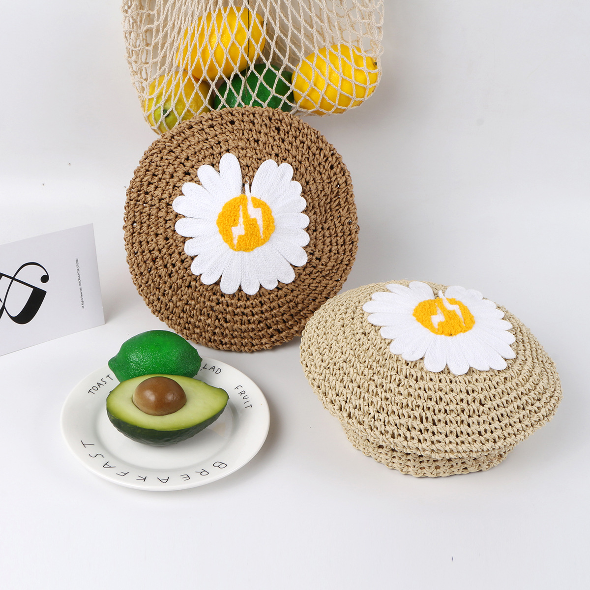 New Fashion Daisy Hat Summer Thin Breathable Pumpkin Hat Wholesale NHTQ206925