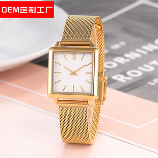 German niche brand watches, foreign trade export watches, stainless steel square women's watches, OEM electronic quartz watches