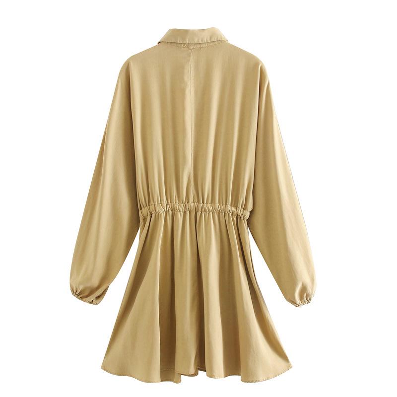Wholesale New Ladies Fashion Lapel Draped Dress NHAM203361