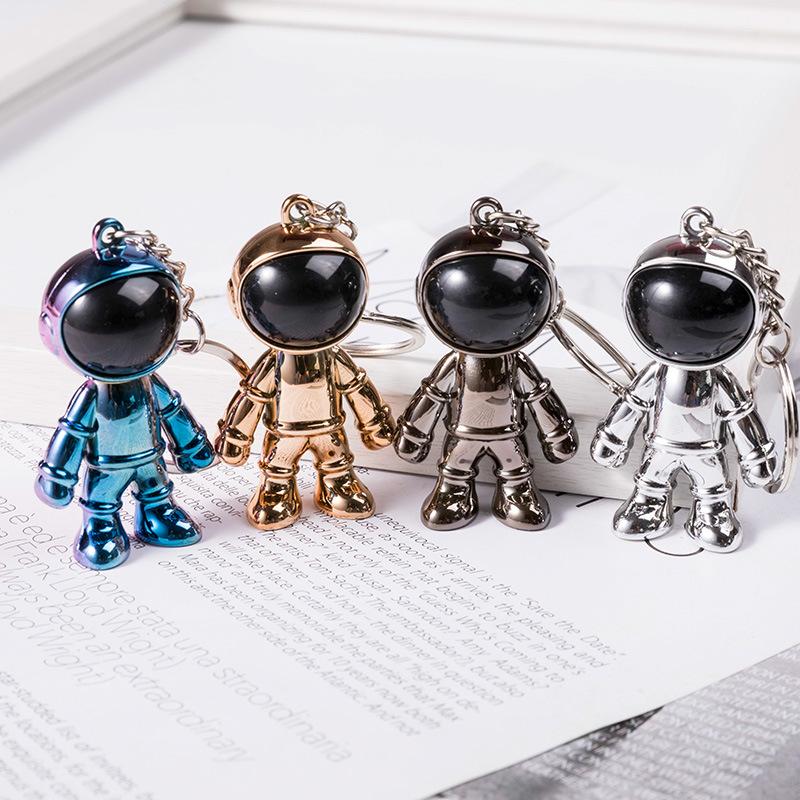 潮流个性太空人钥匙扣立体宇航员创意汽车挂件男女项链包包配饰品