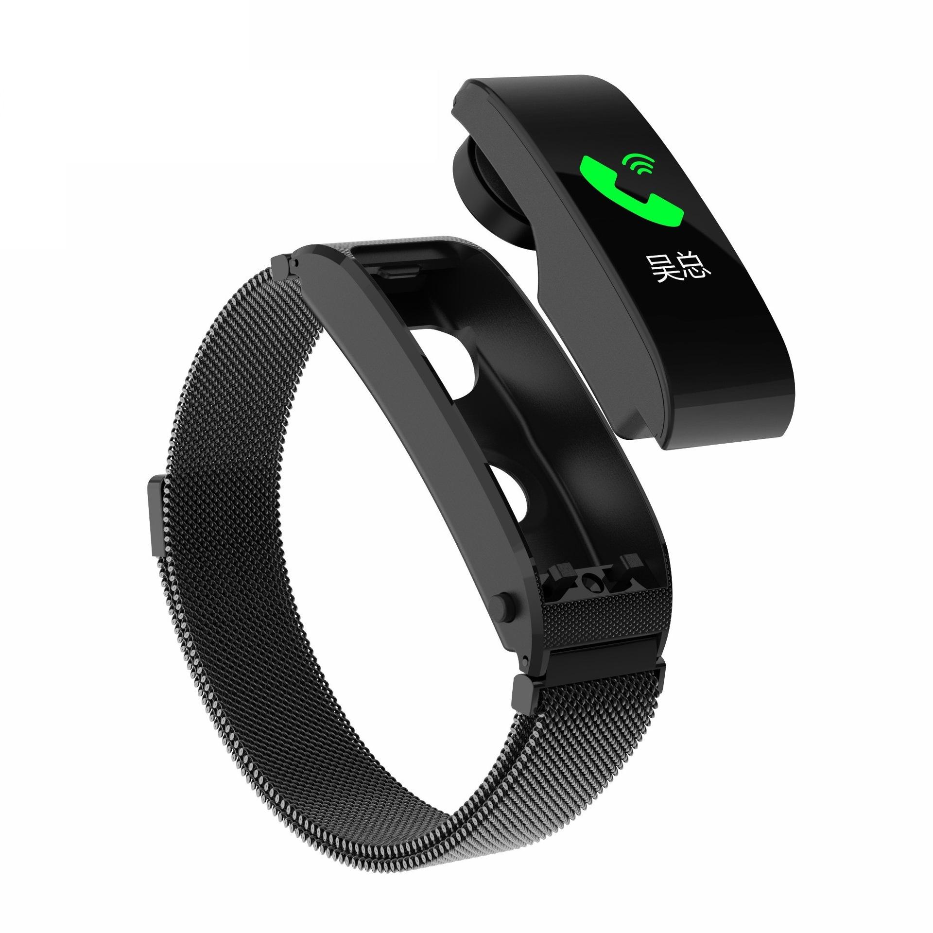 F2pro智能手环分离式智能手环蓝牙通话耳机二合一接电话播放音乐
