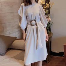 职业阿玛施特专柜正品新款2020初秋气质收腰洋装连衣裙九分袖