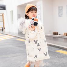 品牌童裝2020冬季新款連帽真毛領女童加厚白鴨絨羽絨服女孩寶寶潮