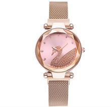2020新款镶钻天鹅懒人磁铁网带抖音同款女士网红手表礼品手表