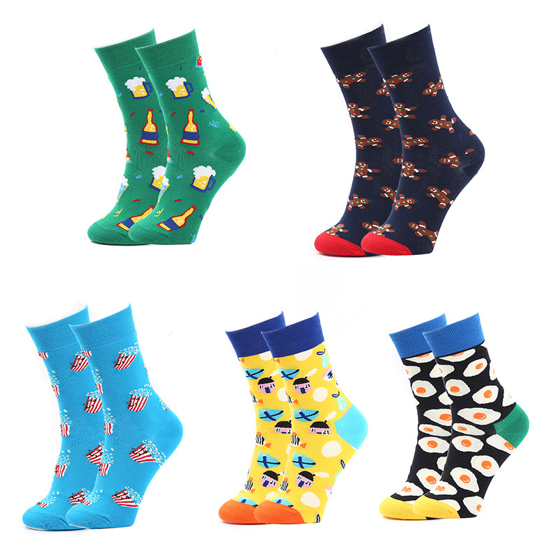 Unisex / men and women can be trendy color matching tube socks