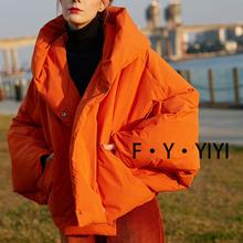 高绒保暖蝙蝠型羽绒服女2020新品外套设计师高端加厚冬装潮外套