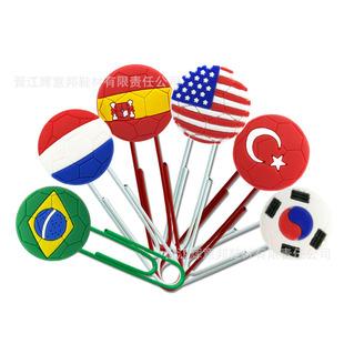 Factory direct sale PVC paper clip bookmark cute cartoon page clip flag sports star creative message customization