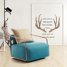 皮配布小户型简约现代休闲单人沙发椅北欧时尚创意定制轻奢艺沙发