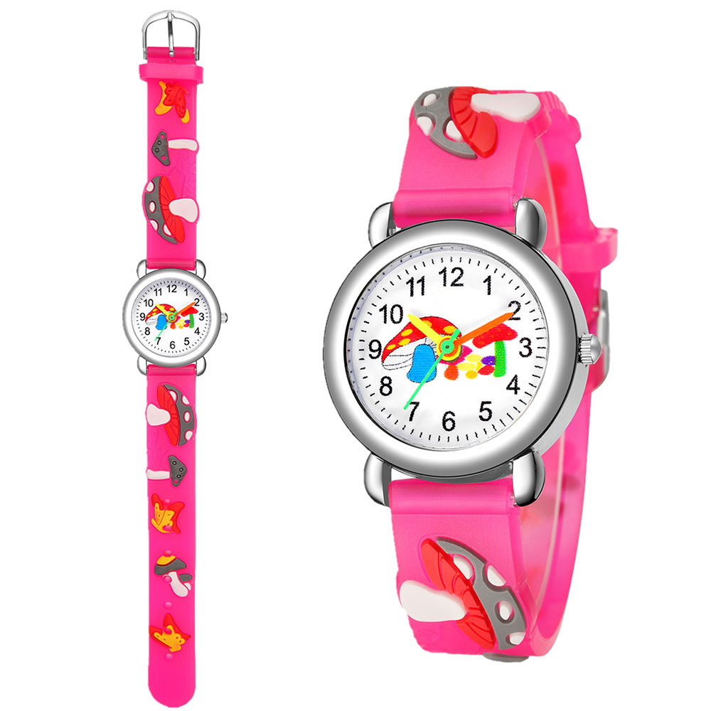 Cute mushroom pattern plastic band quartz watch for boys and girls watches wholesale NHSY202003
