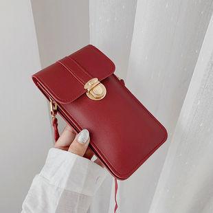 2020 vertical Korean version of the touch screen mobile phone bag mini wallet simple female messenger shoulder bag Moxiangena 004