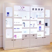 化妆品柜子展示柜带灯箱彩妆柜台护肤品柜子美容院产品展示柜展柜