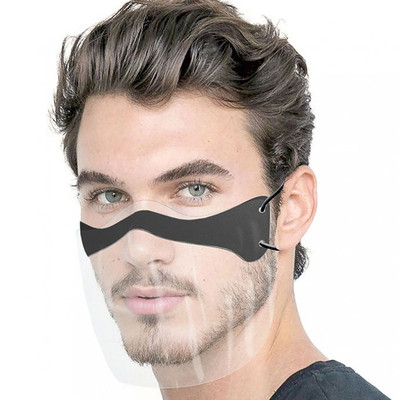 2pcs Reusable Face Masks transparent dual purpose Reusable Face Masks proof fog Face Masks splash proof Lip Reusable Face Masks