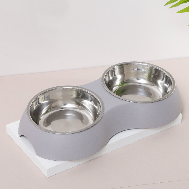 INS wind oval pet double bowl8