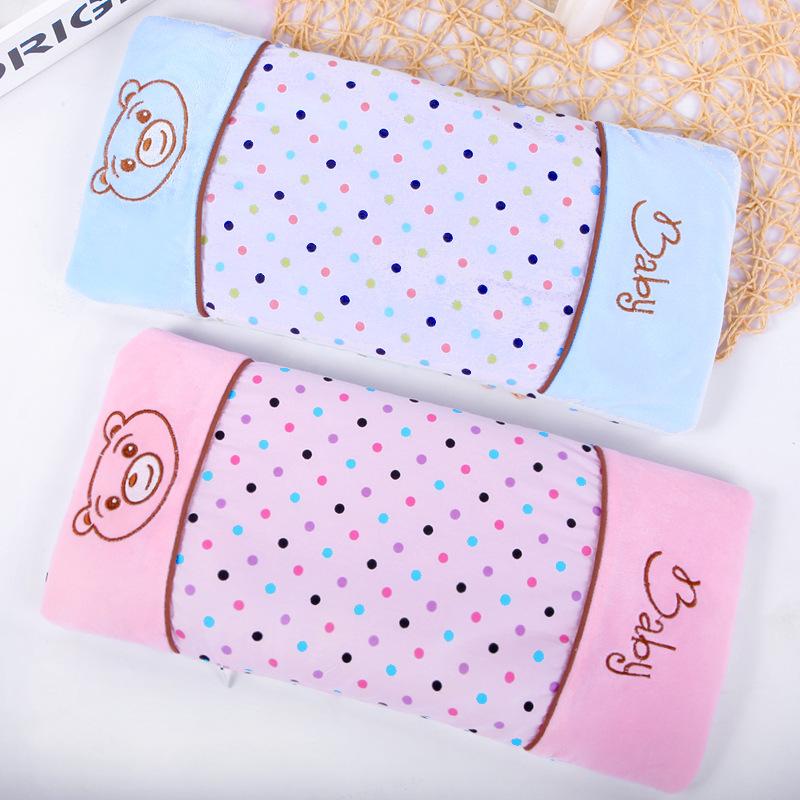现货宝宝定型枕纯棉防扁头婴儿枕头调节大小加大荞麦枕一件代发