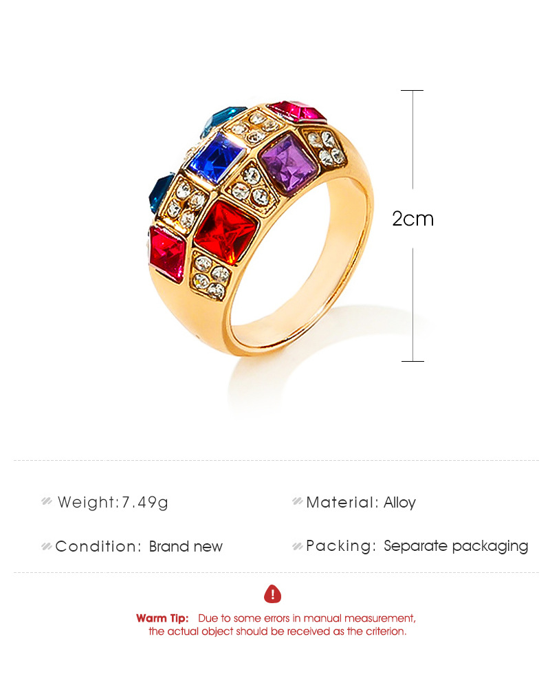 Fancy Diamond Luxury Ring Symphony Crystal Classic Ring wholesales yiwu suppliers china NHDP203075