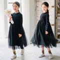 女童连衣裙  2021韩版童装雪尼尔毛衣针织裙公主裙礼服裙子中大童