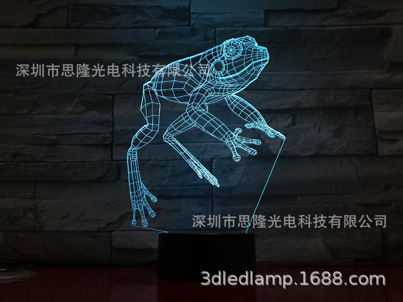 小青蛙立体台灯跨境热销蓝牙音响底座usb七彩渐变床头睡眠小夜灯