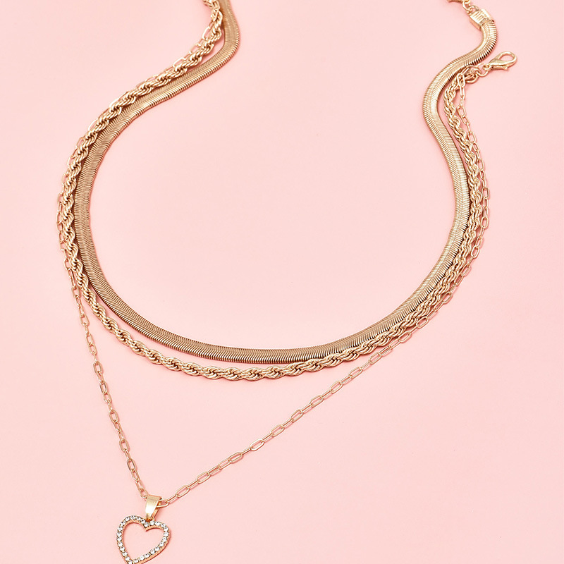 fashion love multilayer womens personalized necklace NHAJ265876