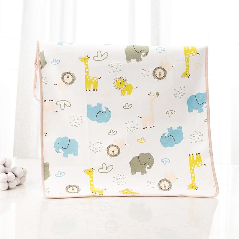 婴儿隔尿垫秋冬夹棉三层加厚透气防水可水洗纯棉大号宝宝隔尿床垫