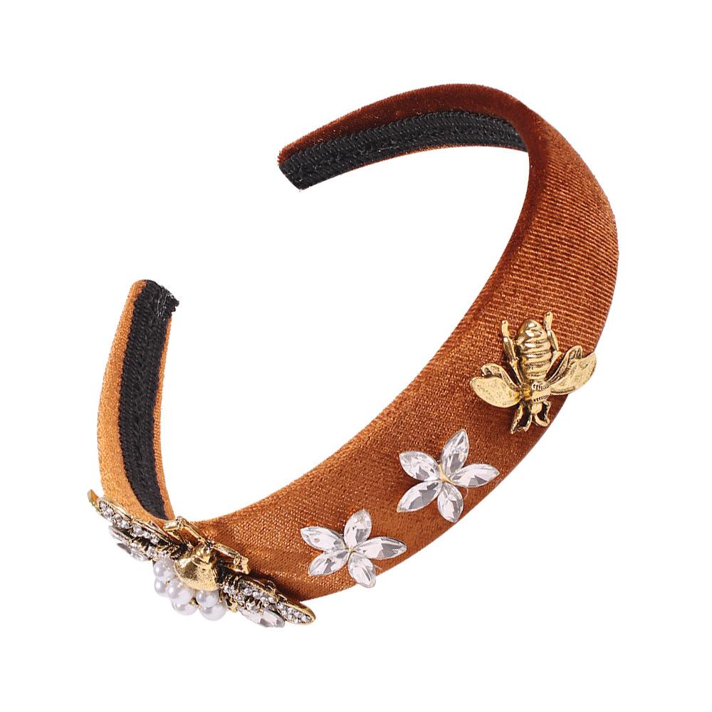 fashion headband retro wide-edged hair accessories small bee fashion headwear wholesale NHMD195450