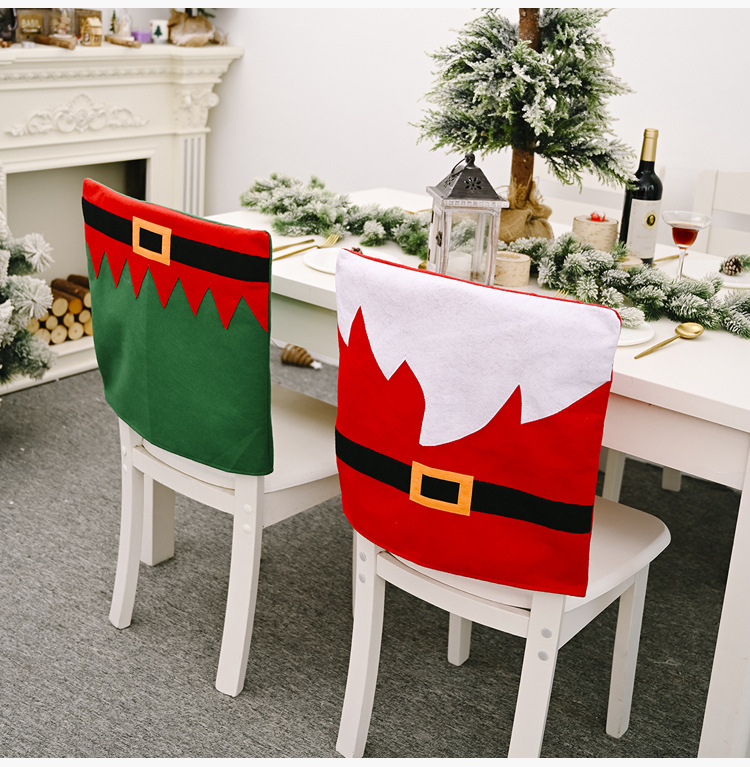 Christmas red green chair cover NHHB285395