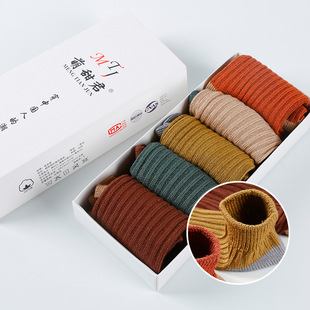 Japanese men's and women's breathable socks, four seasons solid color breathable cotton socks, multi-color fashion socks manufacturers, wholesale and sales