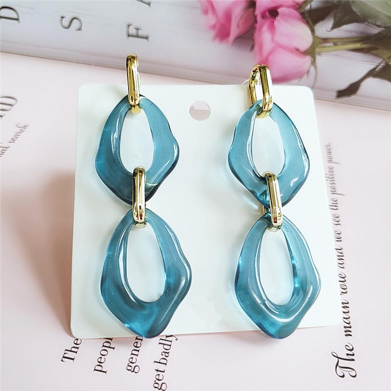 fashion trend fashion jewelry retro acrylic hollow oval pendant ladies earrings  wholesale nihaojewelry NHVA221552