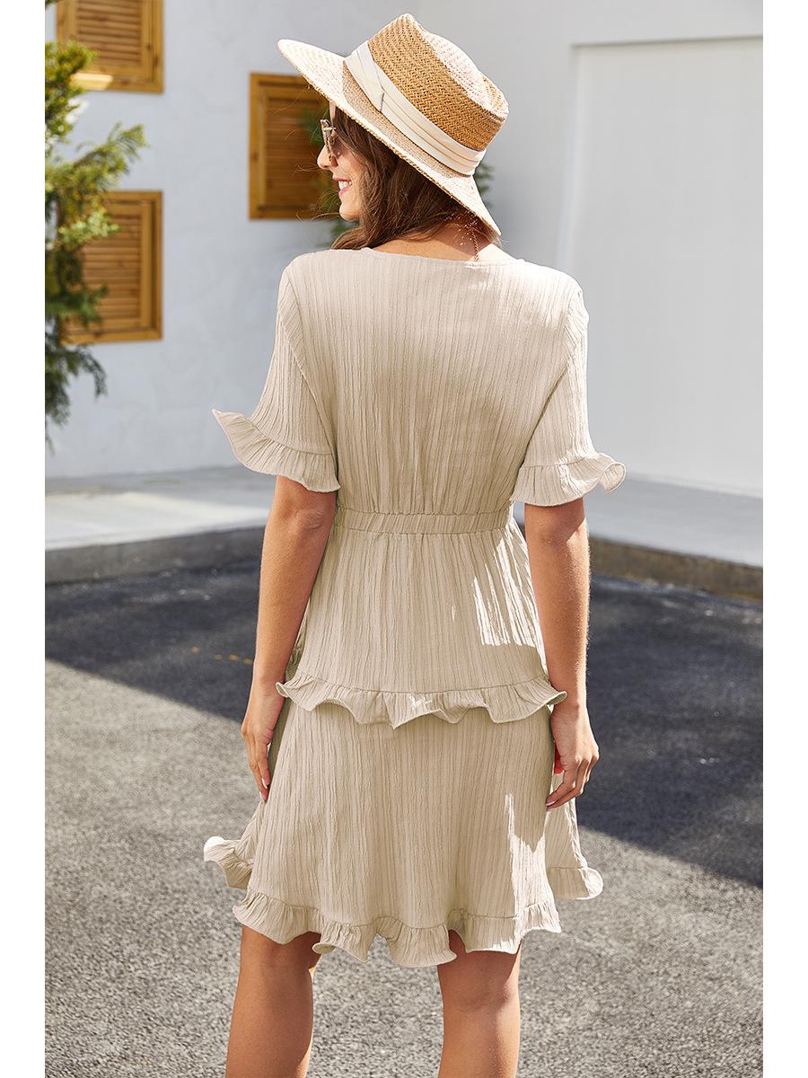 spring and summer women's cake fold dress  NSAL2913