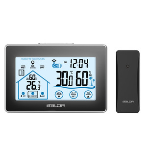 BALDR spot touch screen indoor and outdoor electronic thermometer and hygrometer wireless weather station thermometer