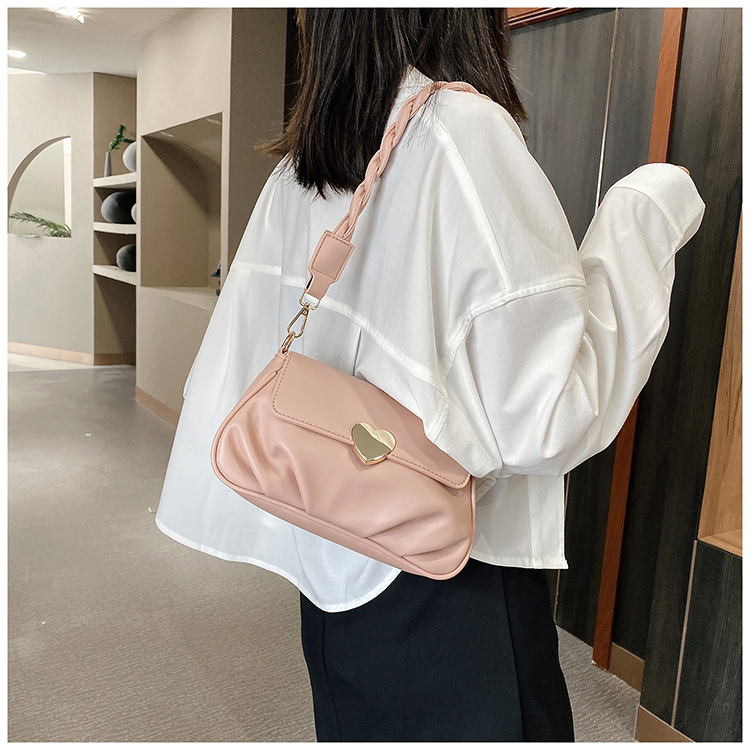 new trendy ocean style oneshoulder fold fashion texture messenger summer small womens bag  NHTC247773