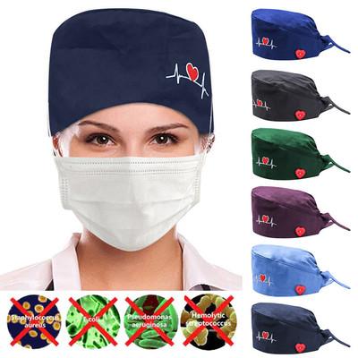 2pcs Nurse hat work hat operation hat doctor nurse hat beautician dustproof gourd hat