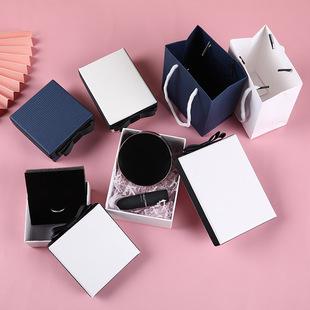 New Spot Jewelry Box Raffia Bowknot Perfume Box Accompanying Hand Gift Box Custom Handbag Multi-color Size