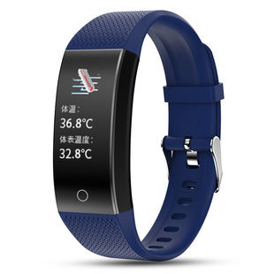 The new QW18T temperature monitoring smart bracelet pedometer Bluetooth camera call message reminder heart rate sleep