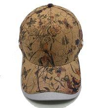 帽子原创个性软木印花鸭舌帽环保休闲潮帽仿树皮环保热转印棒球帽