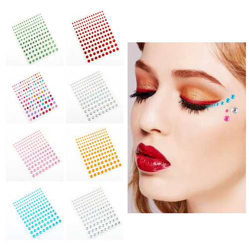 Self adhesive DIY eyebrow center Eye Stick forehead face water drill stick acrylic stick diamond children's masquerade ball