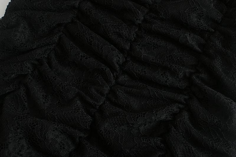 autumn lace pleated dress  NSAM3114