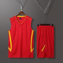 夏季跑步服青年男士无袖运动套装夏季宽松大码背心篮球服透气