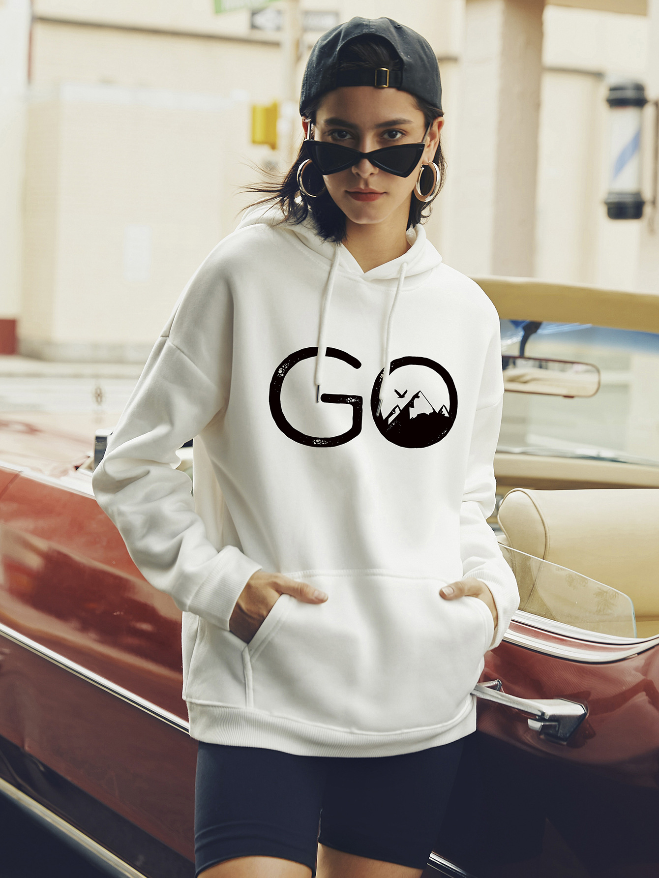 hot autumn and winter hooded women's sweaters popular letter printing wholesale NSSN310