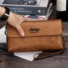 男士手包潮流新款翻盖多层卡包休闲时尚手机包防盗手腕包一件代发