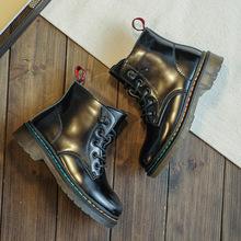 女童马丁靴真皮儿童靴子2020新款短靴英伦风公主春秋防滑中筒靴