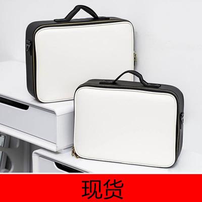 专业隔板手提PU化妆包定制跟妆纹绣箱防水收纳化妆箱