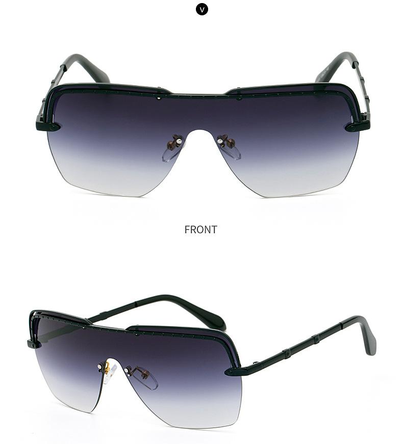 fashion halfframe onepiece sunglasses  NHLMO366363